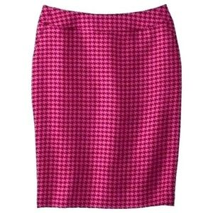 NWT PINK MERONA HOUNDSTOOTH PENCIL SKIRT~SIZE 4